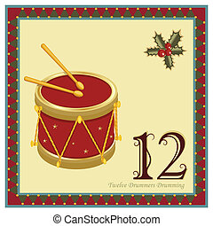 12, dagen, kerstmis