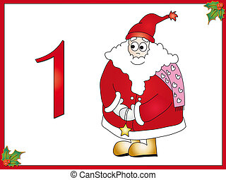 12 days of christmas: 1 Santa Claus