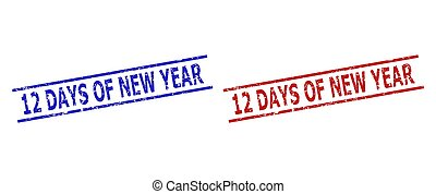 12 DAYS OF NEW YEAR Seals with Unclean Surface and Parallel Lines