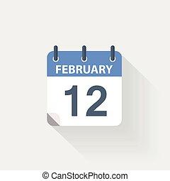 12 february calendar icon