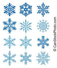 12, flocons neige