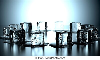 12 ice cubes in circle