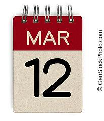 12 mar calendar