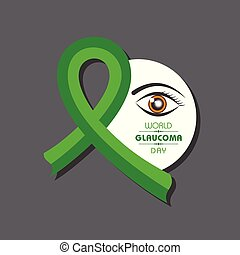 12, mars, glaukom, illustration, vektor, day-, bakgrund, värld