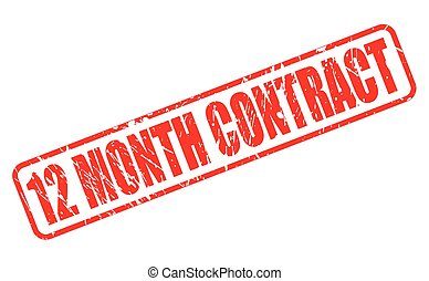 12 MONTH CONTRACT red stamp text