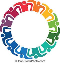 12, pessoas, imagem, abraço, trabalho equipe, logotipo