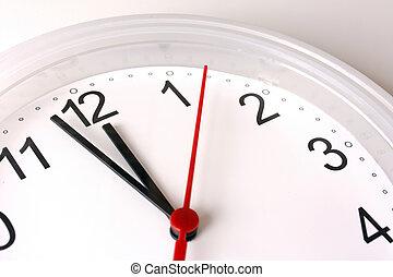 12, reloj, actuación, o, cara, casi