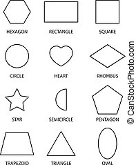 12 Shapes - Outlines