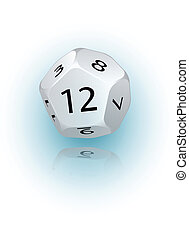 12-sided Die - An abstract vector illustration of a 12-sided...