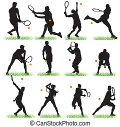 12 Tennis Players set