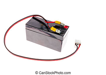 12 volt battery with cable red and black
