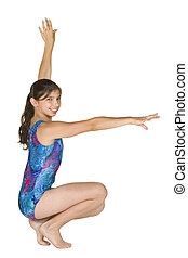 12 year old girl in gymnastics poses - Model Release #280 12...