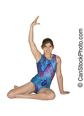 12 year old girl in gymnastics poses