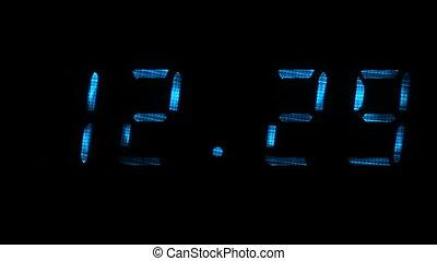 12, zegar, 30, 29, godzinki, czas, cyfrowy, minuty, widać