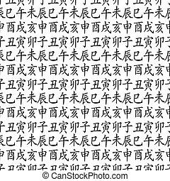 12 zodiac fengshui animals - Set of chinese feng shui...