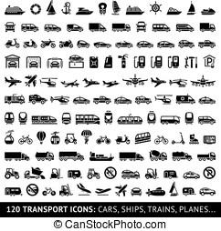 120, transporte, ícone
