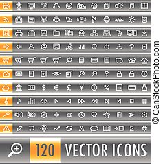 120 web icons set