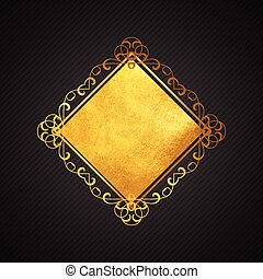 1207, שחור, זהב, רקע