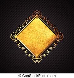 1207, negro, oro, plano de fondo