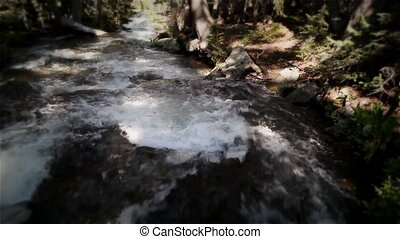 (1211), rivière, mountin, chute eau, spri