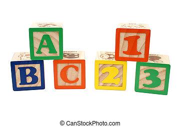 123, blocos, abc