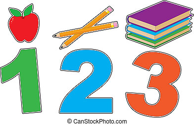 123 - With a colorful grade school theme, this graphic has...