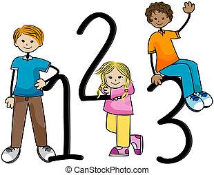 123, dzieciaki