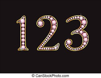 123 Rose Quartz Jeweled Font