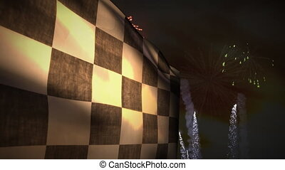 (1230 Motor Racing Winner Fireworks