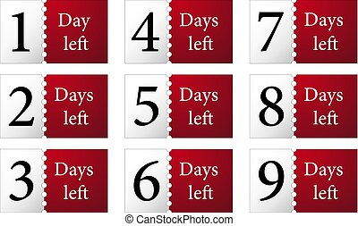 1,2,3,4,5,6,7 days left counter