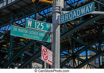 125th and Broadway Street Sign - New York City at the...