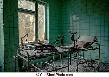 126, no., chernobyl, hospital, pueblo, potencia, sala de maternidad, planta, zona, nuclear, enajenación, pripyat, fantasma, ucrania