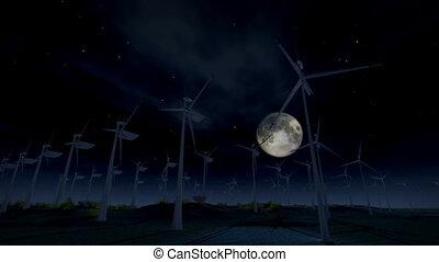(1277) Wind Turbine Electric Energy