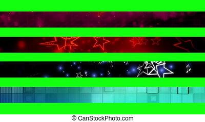 12n, troisième, inférieur, écran, vert