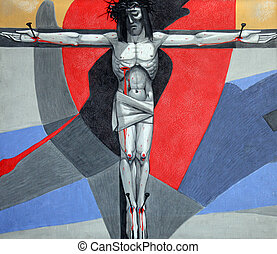 12th Stations of the Cross, Jesus dies on the cross, Church...