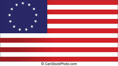 13 colonies flag us - illustration