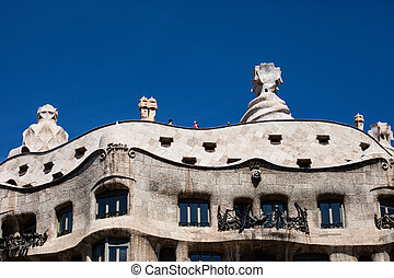 13, edificio, mila, -, abril, pedrera), 13:, españa, spain...