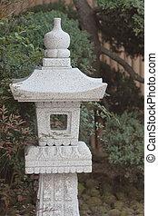 13 March 2008 Japanese stone lantern at zen garden. Nature, japan.