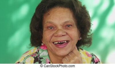 13 Real People Portrait Funny Senior Woman Hispanic Lady Smiling