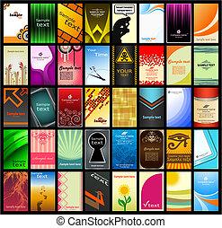 13), (set, cartão negócio