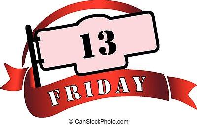 13, viernes, bandera