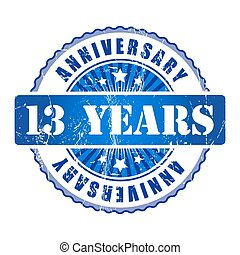 13 Years anniversary stamp.