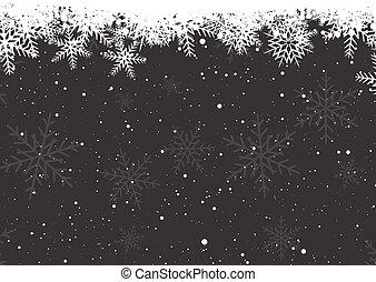 1311, hiver, flocons neige