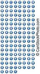 132 glossy vector icons
