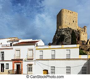 arab castle at cliff. Olvera