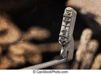 1/4, öreg, kézikönyv, -, szűr, meleg, 3/4, kalapács, írógép