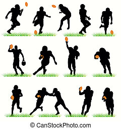 14 American Football Silhouettes