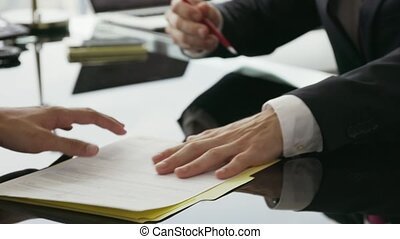 14 Business Meeting People Signing Contract And Shaking Hands