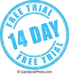14 day free trial rubber stamp