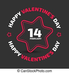 Valentine Day vector icon on the black background